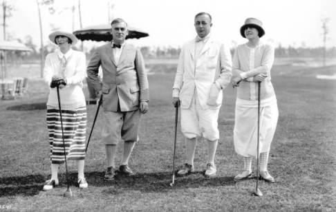 Golfeurs à l'Hôtel Biltmore