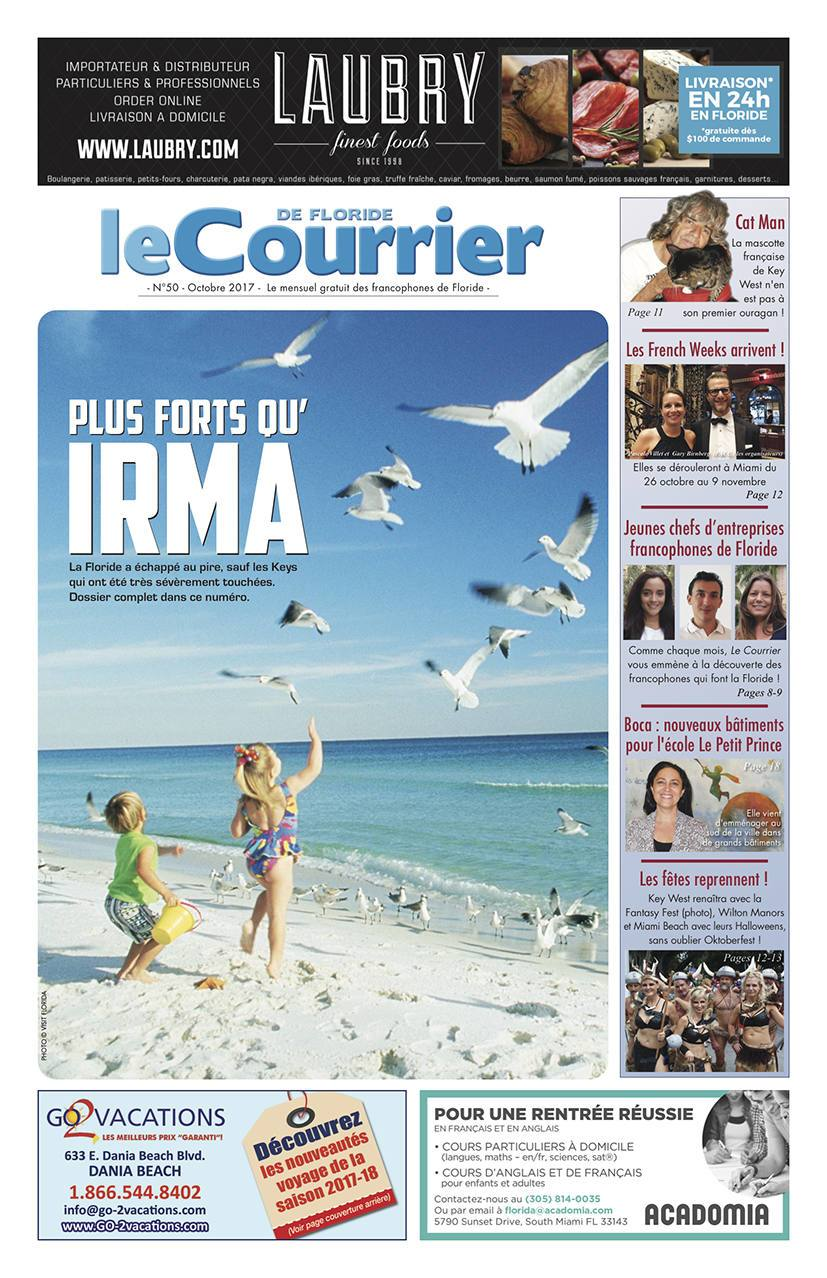 Couverture du journal Le Courrier de Floride d'Octobre 2017
