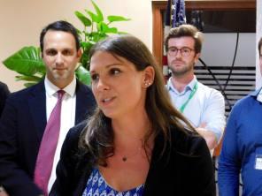 Jade VInet (directrice de la CCQF en Floride) au cocktail de la mission commerciale Québec-Floride 2017