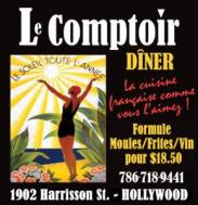 Restaurant Le Comptoir à Hollywood en Floride
