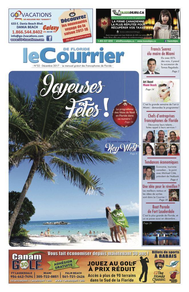 Couverture du Courrier de Floride de décembre 2017