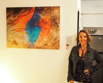 L'artiste Marie Donze lors de l'exposition Made in France Exhibit 2017 à Miami Beach