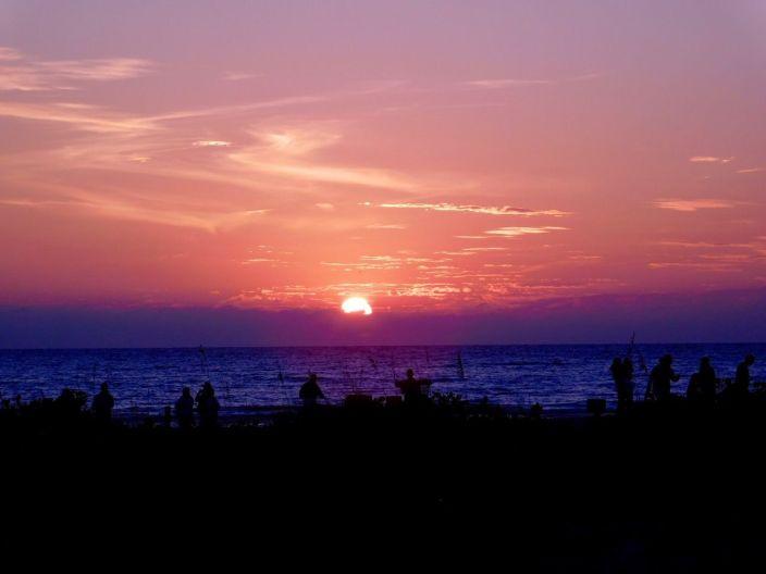 Coucher de soleil sur Bowmans Beach à Sanibel Island