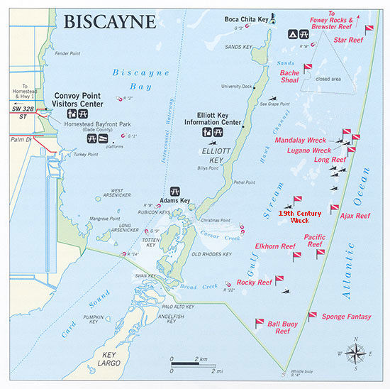 Carte du Biscayne National Park