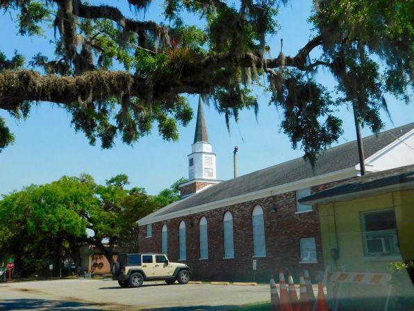 Eglise dans le quartier ancien de La Belle, en Floride