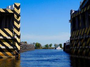 Ecluse d'accès au Lake Okeechobee à Moore Haven (Floride)