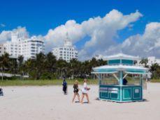 Plage de Lincoln Road à South Beach, Miami Beach