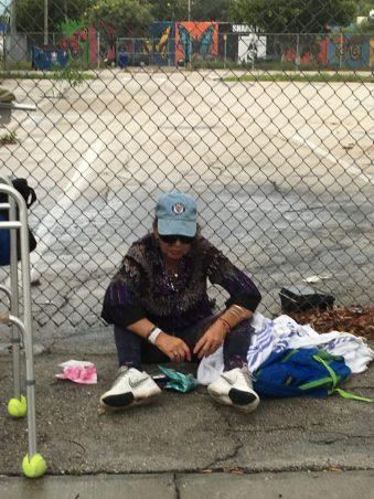 Sans-abris dans la rue à Fort Lauderdale en Floride