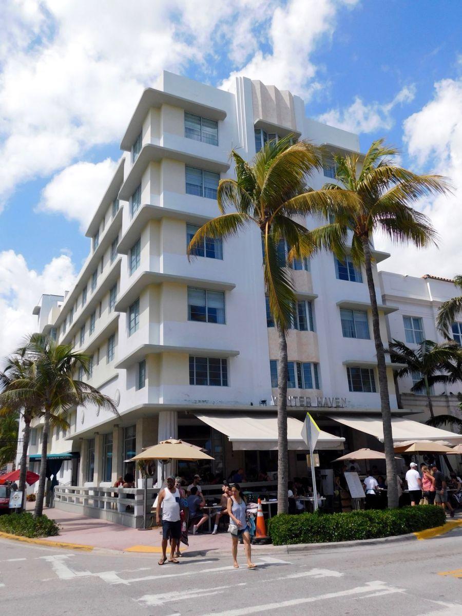 Winter Haven, hôtel art déco sur Ocean Drive à South Beach / Miami Beach