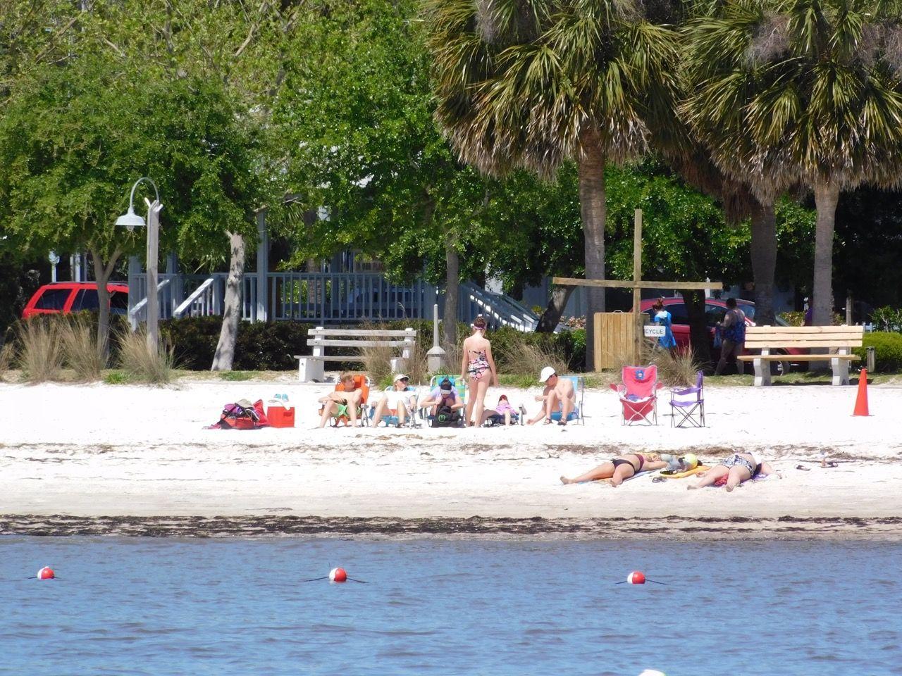 Plage sur l'Île de Cedar Key, en Floride.