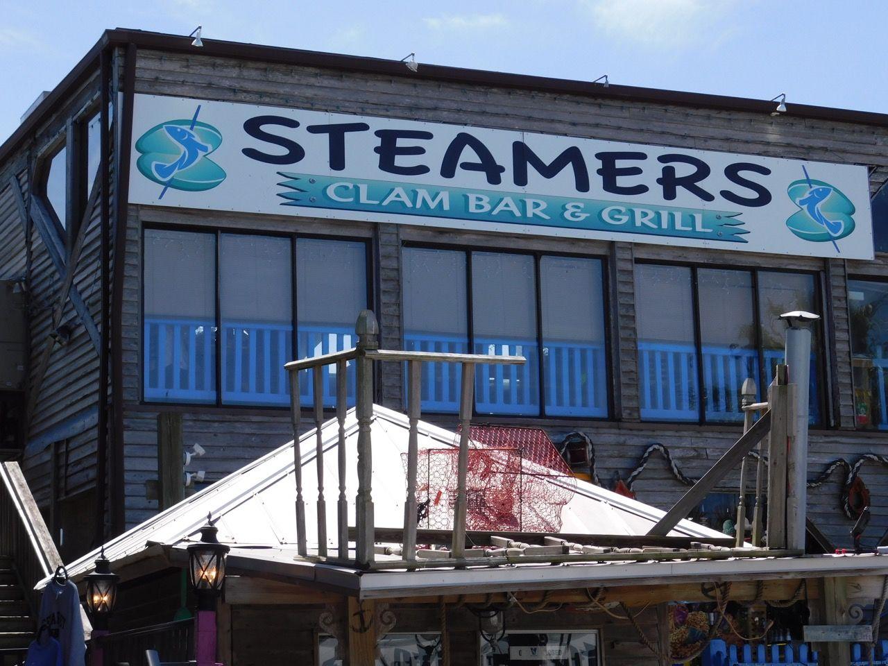 restaurant Steamers sur l'Île de Cedar Key, en Floride.
