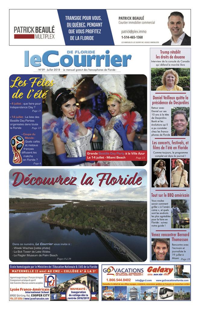 Le Courrier de Floride de juillet 2018