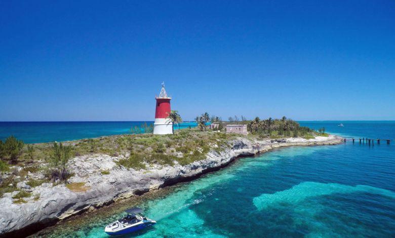 Bahamas Biminis Phare de Gun Cay