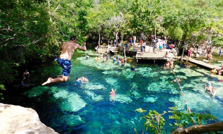 Cenote du Yucatan au Mexique