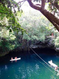 La Cenote Verde Lucero de Puerto Morelos (près de Cancun au Mexique)