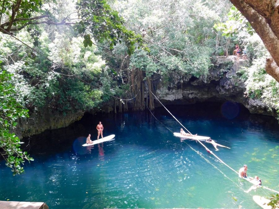 Cenote Verde Lucero de Puerto Morelos (près de Cancun au Mexique)