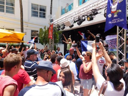 La finale de la Coupe du monde de football vue de Miami Beach