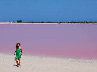 Les époustouflants lacs roses de Las Coloradas au Yucatan
