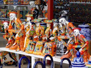 """""""Sante Muerte"""" et autres statues mortifiées colorées !"""
