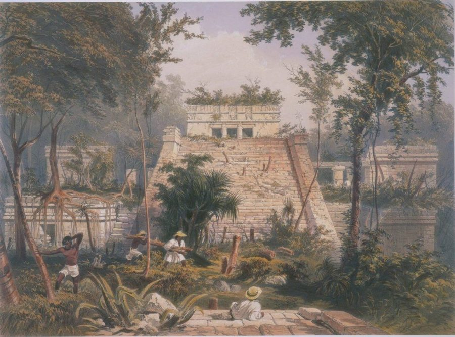 Tulum, par Catherwood en 1844.