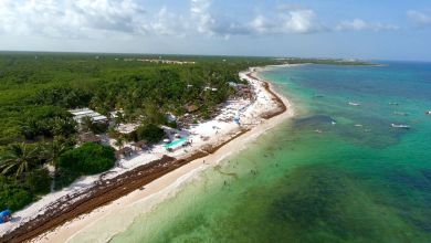 Photo of La plage de Xpu-Ha (au sud de Playa del Carmen, au Mexique)
