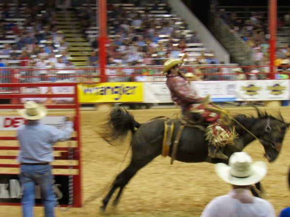 Rodéo à cheval au Cowboys au Davie Pro Rodeo à Davie en Floride