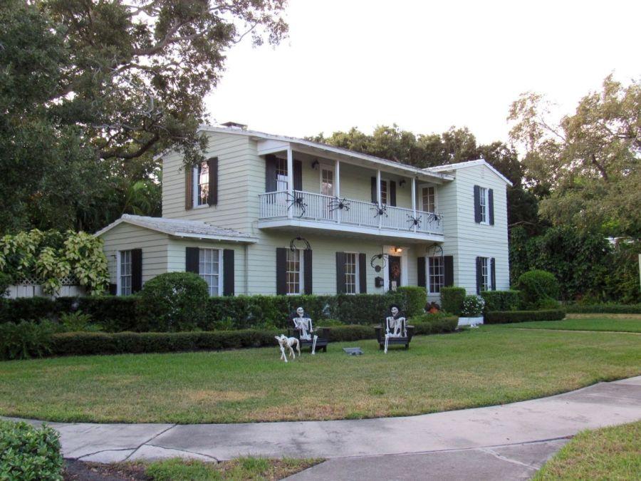 Une maison de Victoria Park à Fort Lauderdale durant la période de Halloween.