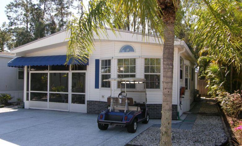 Exemple de maison mobile qu'on peut trouver dans le sud de la Floride