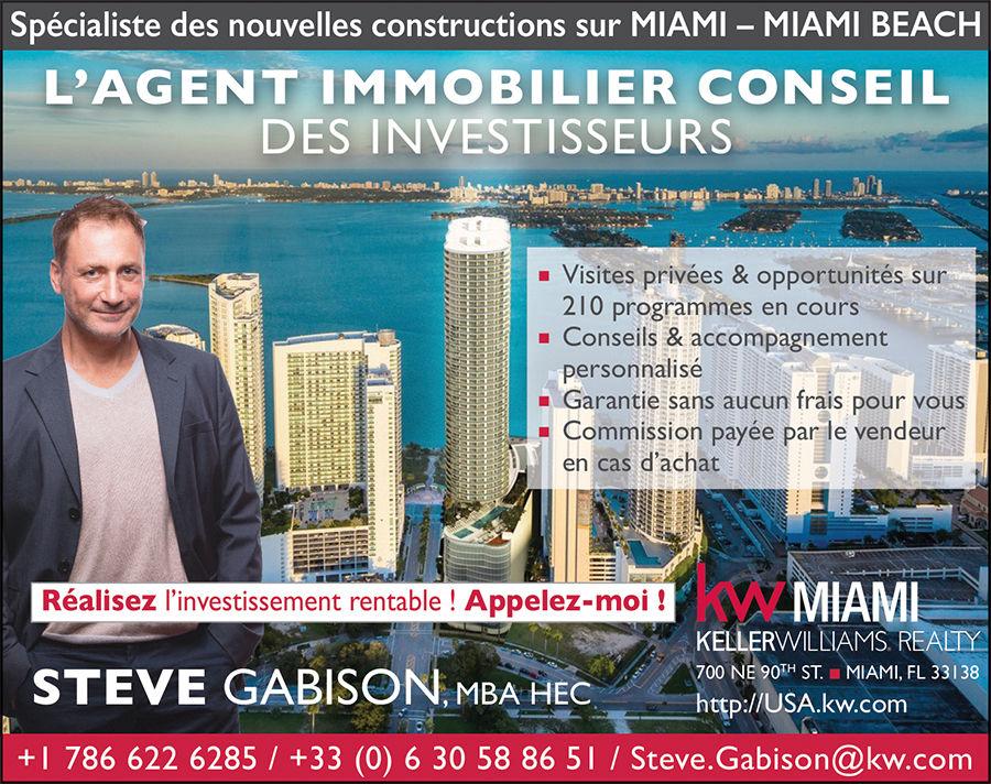 Steve Gabison / Agent immobilier à Miami et Miami Beach