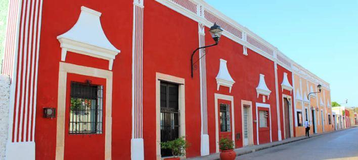 rue Calzada de los Frailes à Valladolid dans le Yucatan (Mexique)
