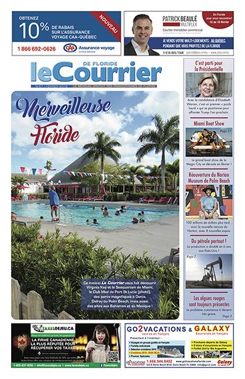 Couverture du Courrier de Floride N°67 de février 2019.