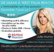Julie Murray Agent et courtier Immobilier en sud Floride