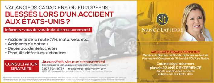 Nancy Lapierre avocate accidents