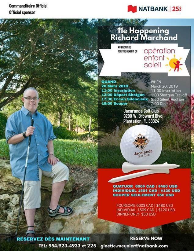 Tournoi de golf Nabtank / 11e Happening Richard Marchand au profit d'Opération Enfant Soleil