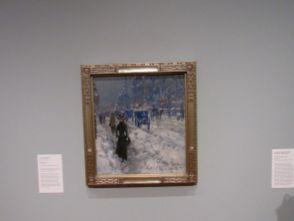 """""""Melting Snow"""" par Childe Hassam, au Norton Museum of Art de West Palm Beach, en Floride"""