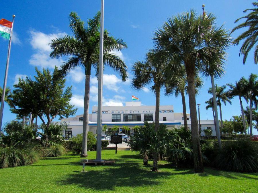 L'Hôtel de Ville de Miami dans le quartier de Coconut Grove.