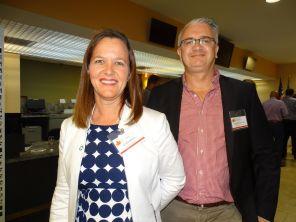 Linda Morin (Desjardins Bank) et Gwendal Gauthier (Le Courrier de Floride) durant la 14e mission commerciale de la Chambre Canada-Floride