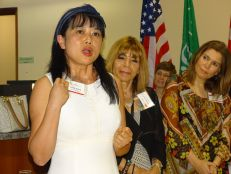 Fiona Wang durant la 14e mission commerciale de la Chambre Canada-Floride