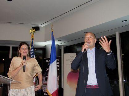 Christophe Poilleux durant le Gala 2019 de la FACC Miami : la chambre de commerce franco américaine.