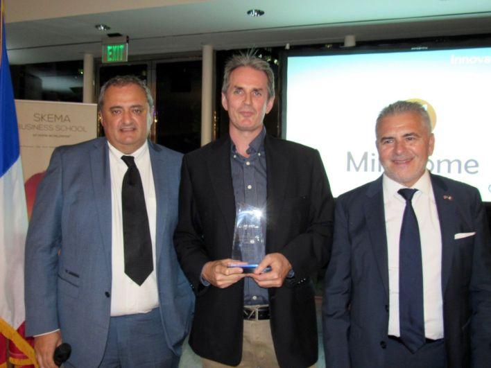 Michel Legros (Mirazome) entre Franck Bondrille (Corsair) et Alain Ouelhadj (FACC)