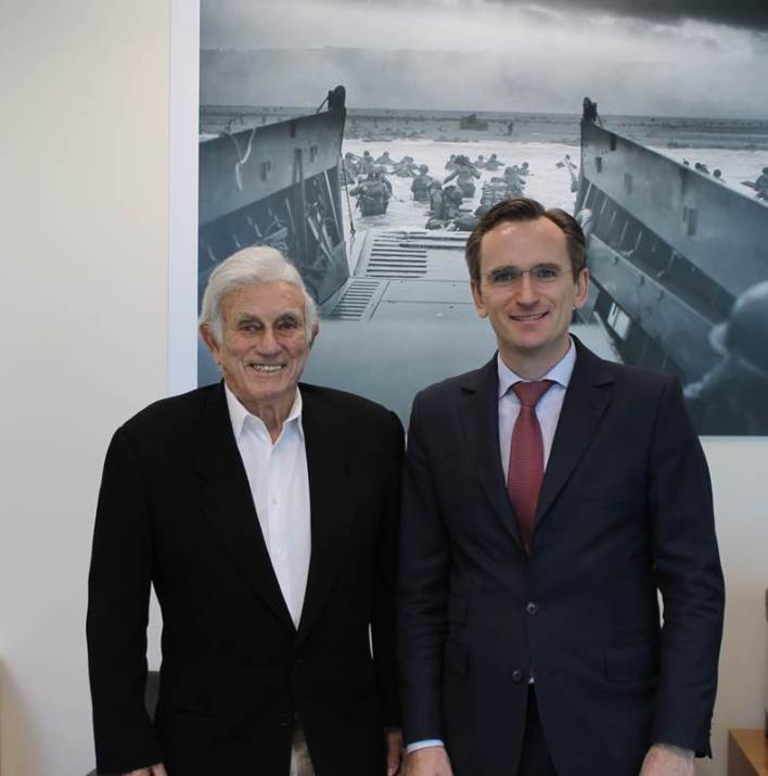 Harold Terens avec le consul de France à Miami, Clément Leclerc