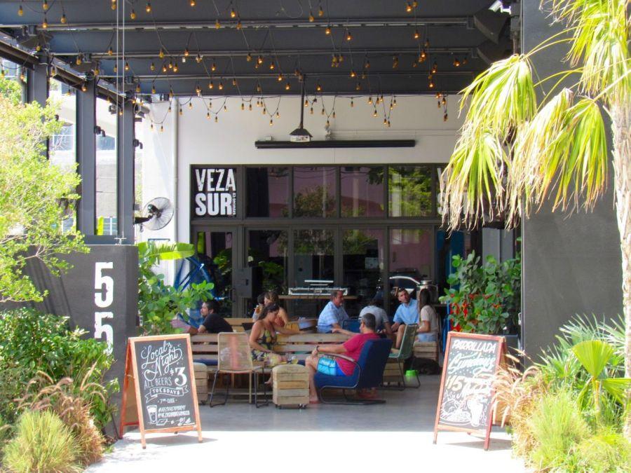 Restaurant Vera Sur dans le quartier de Wynwood à Miami