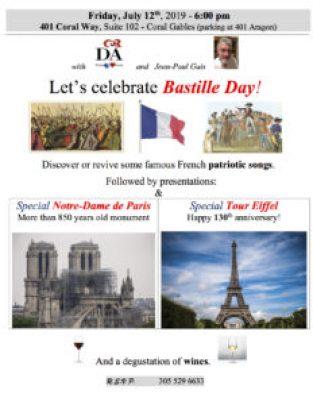 Bastille Day : le 14 juillet 2019 sera fêté à Miami (Coral Gables) !