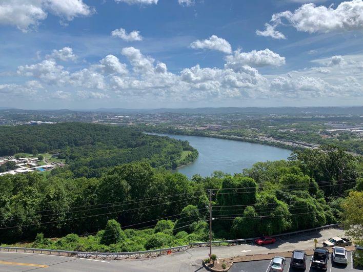 La vue depuis Lookout Mountain