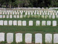 Cimetières à la prison confédérée d'Andersonville en Géorgie
