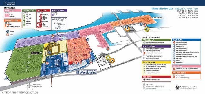 carte du Fort Lauderdale Boat Show