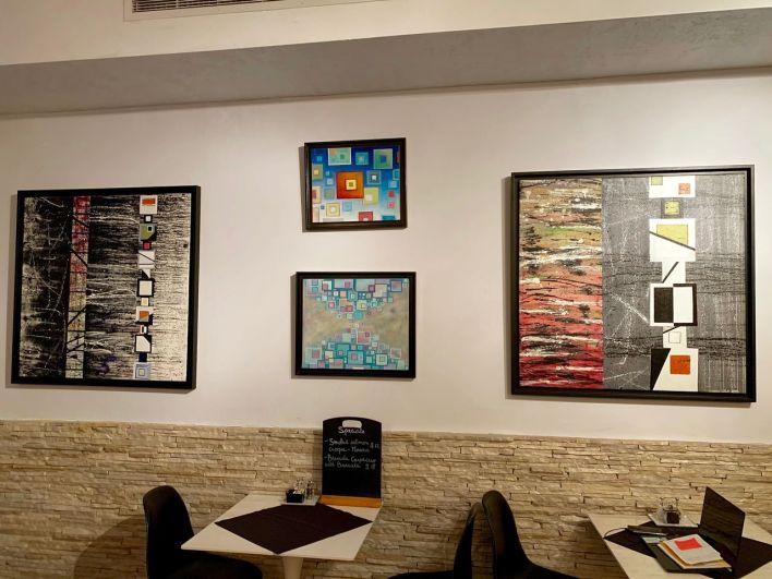 Stéphanie et Fabrice Di Rienzo sont fans d'rt, et ça se voit au M & V Café, leur restaurant franco-italien à North Miami