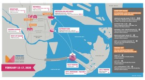 Carte 2020 du Boat Show de Miami