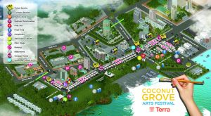Plan du Coconut Grove Arts Festival de Miami