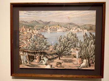 Paysage de Cadaques au Salvador Dali Museum de St Petersburg